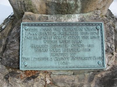 Site of Church of Lyman Beecher Marker image. Click for full size.