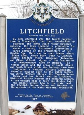 Litchfield Marker image. Click for full size.