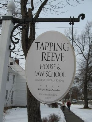 Tapping Reeve House and Law School image. Click for full size.