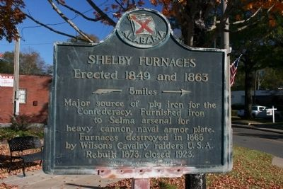 Shelby Furnaces Marker image. Click for full size.
