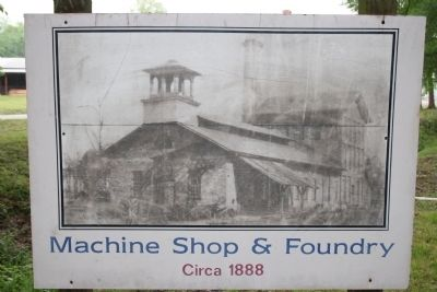 Shelby Furnaces Machine Shop and Foundry Circa 1888 image. Click for full size.