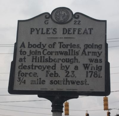 Pyle's Defeat Marker image. Click for full size.