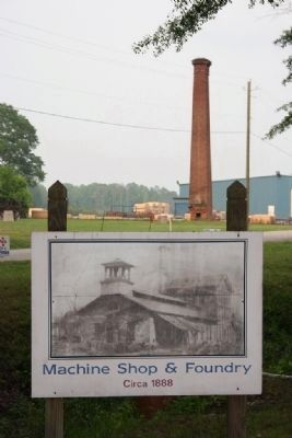 Shelby Furnaces in 1888 and in 2008. image. Click for full size.