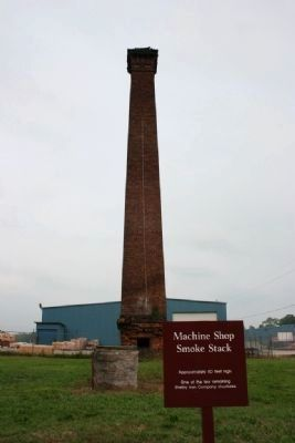 Shelby Furnaces Machine Shop Smoke Stack image. Click for full size.