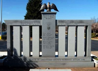 Greenville County Medal of Honor Memorial image. Click for full size.