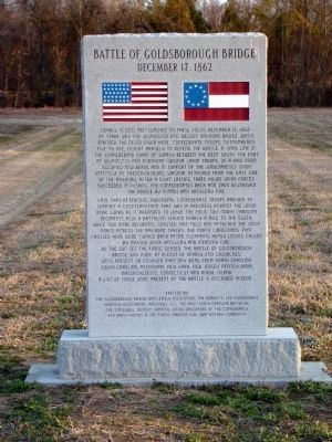 Battle of Goldsborough Bridge Monument image. Click for full size.