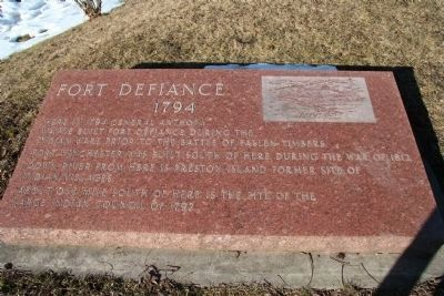 Fort Defiance, 1794 Marker image. Click for full size.