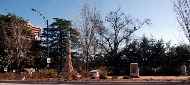 Greenville County Confederate Monument and Adjacent Markers image. Click for full size.