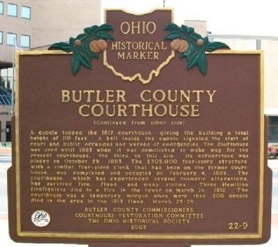 Butler County Courthouse Marker (Side B) image. Click for full size.
