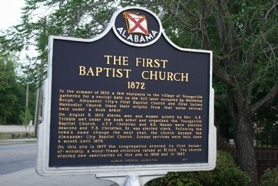 The First Baptist Church 1872 Marker image. Click for full size.