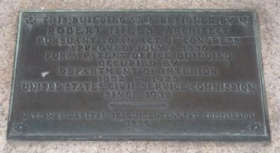 Patent Office Building Marker image. Click for full size.