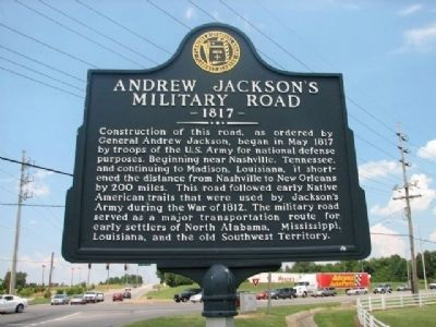 Andrew Jackson's Military Road Marker image. Click for full size.