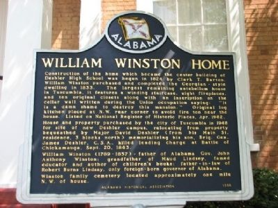 William Winston Home Marker image. Click for full size.