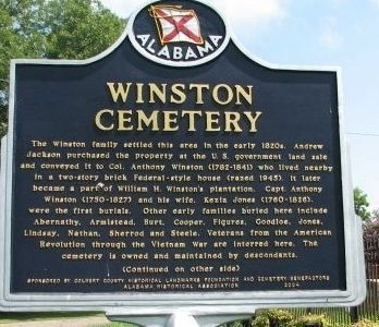 Winston Cemetery Marker - Side A image. Click for full size.