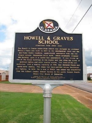 Howell & Graves School Marker Reverse image. Click for full size.