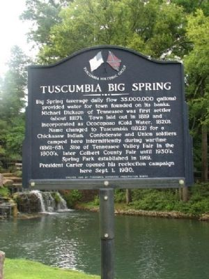 Tuscumbia Big Spring Marker image. Click for full size.