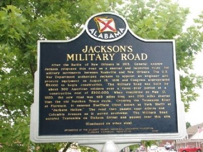 Jackson's Military Road Marker image. Click for full size.