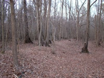 Earthworks in the Now Wooded Area image. Click for full size.