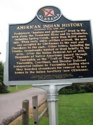 American Indian History Marker Side 2 image. Click for full size.