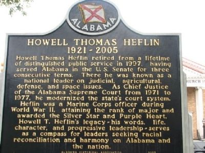 Howell Thomas Heflin Marker image. Click for full size.
