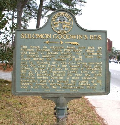 Solomon Goodwin's Res. Marker image. Click for full size.