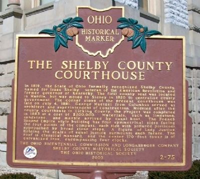 The Shelby County Courthouse Marker image. Click for full size.