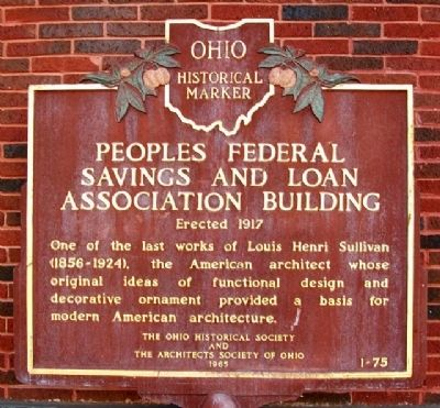 Peoples Federal Savings & Loan Assn Bldg Marker image. Click for full size.