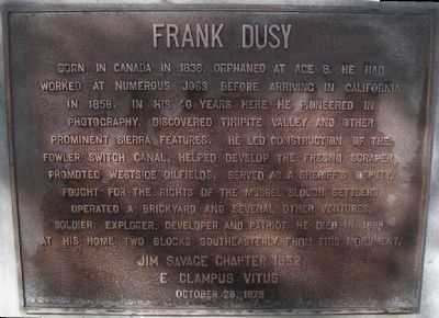 Frank Dusy Marker image. Click for full size.