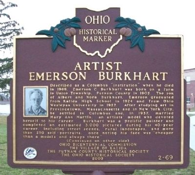 Artist Emerson Burkhart Marker (Side A) image. Click for full size.