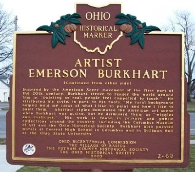 Artist Emerson Burkhart Marker (Side B) image. Click for full size.