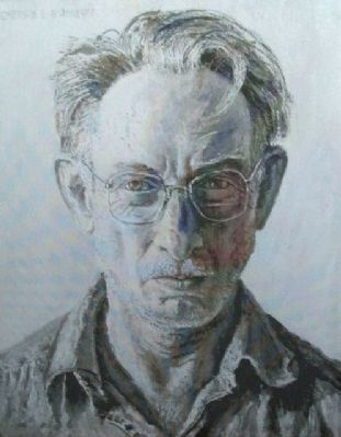 Burkhart Self Portrait on Marker image. Click for full size.