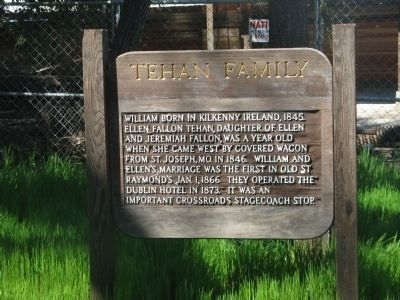 Tehan Family Marker image. Click for full size.