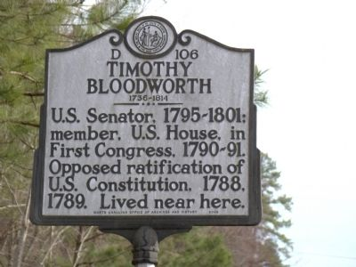 Timothy Bloodworth Marker image. Click for full size.