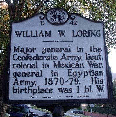 William W. Loring Marker image. Click for full size.
