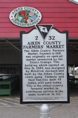 Aiken County Farmer's Market Marker image. Click for full size.