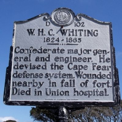 W.H.C. Whiting Marker image. Click for full size.