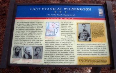 Last Stand At Wilmington CWT Marker image. Click for full size.