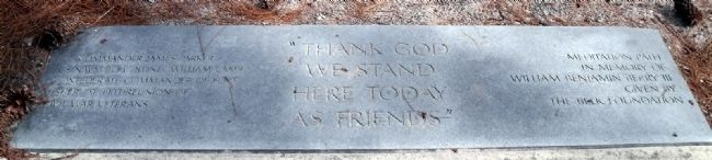 """Thank God we stand here today as friends"" image. Click for full size."