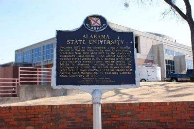 Alabama State University Marker - Side A image. Click for full size.