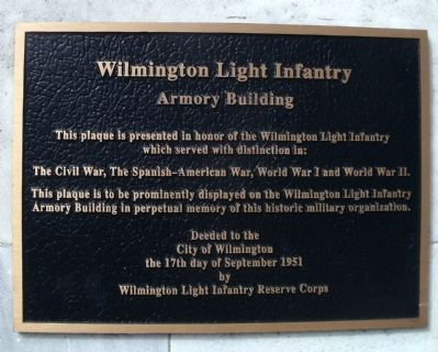 Wilmington Light Infantry Marker image. Click for full size.