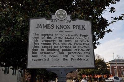 James Knox Polk Marker image. Click for full size.