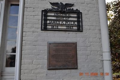 Ancestral Home of James Knox Polk National Historic Landmark Plaque image. Click for full size.