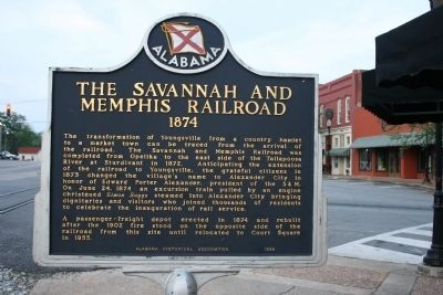 The Savannah And Memphis Railroad 1874 Marker image. Click for full size.