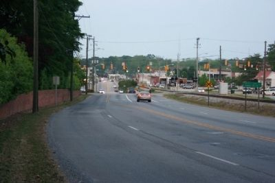 From the Youngsville Marker looking east toward downtown Alexander City image. Click for full size.