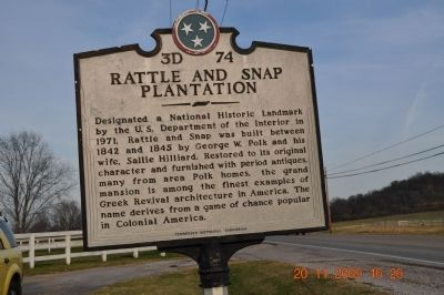 Rattle and Snap Plantation Marker image. Click for full size.