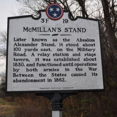 McMillan's Stand Marker image. Click for full size.