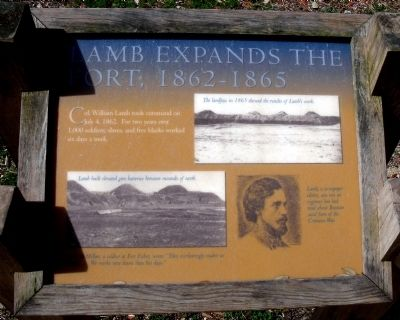 Lamb Expands the Fort, 1862-1865 Marker image. Click for full size.