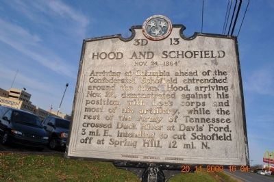 Hood and Schofield Marker image. Click for full size.