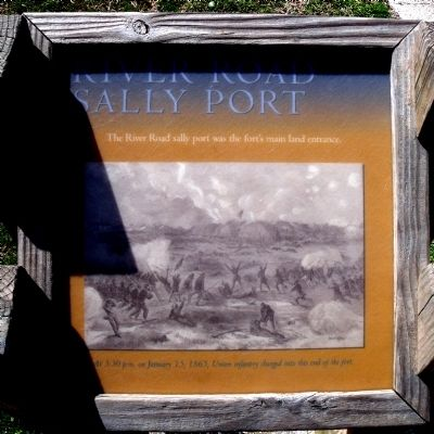 River Road Sally Port Marker image. Click for full size.