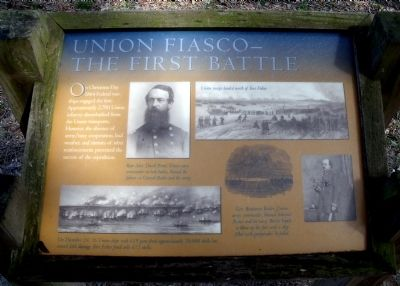 Union Fiasco: The First Battle Marker image. Click for full size.